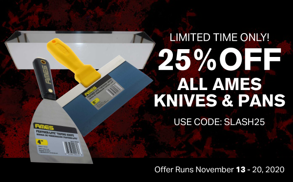 25% Off AMES Knives and Pans