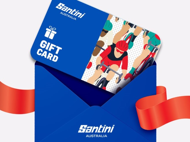 Santini gif card in envelope