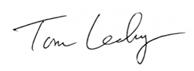 Tom Leahy signature