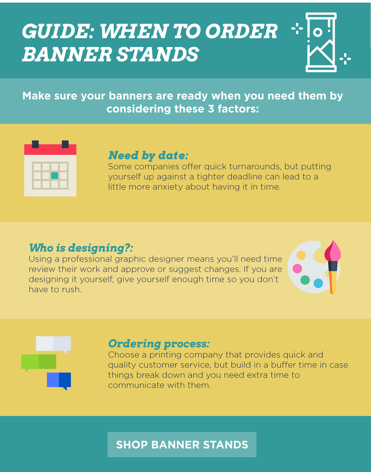 GUIDE: WHEN TO ORDER BANNER STANDS