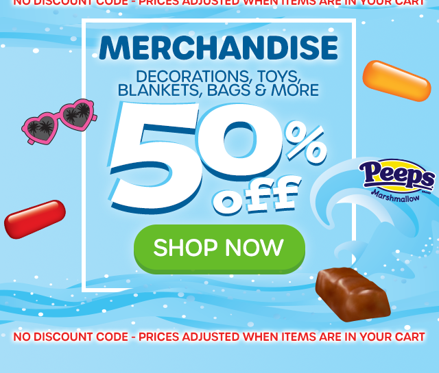 MERCHANDISE - Decorations, Toys, Blankets, Bags & More - 50% OFF - SHOP NOW