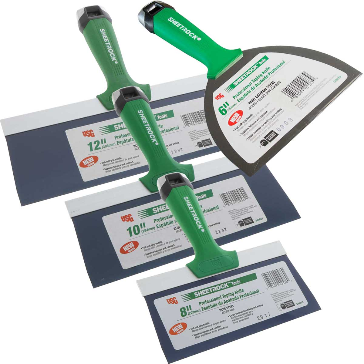 USG Sheetrock Pro Series Taping Knife Set 6-8-10-12
