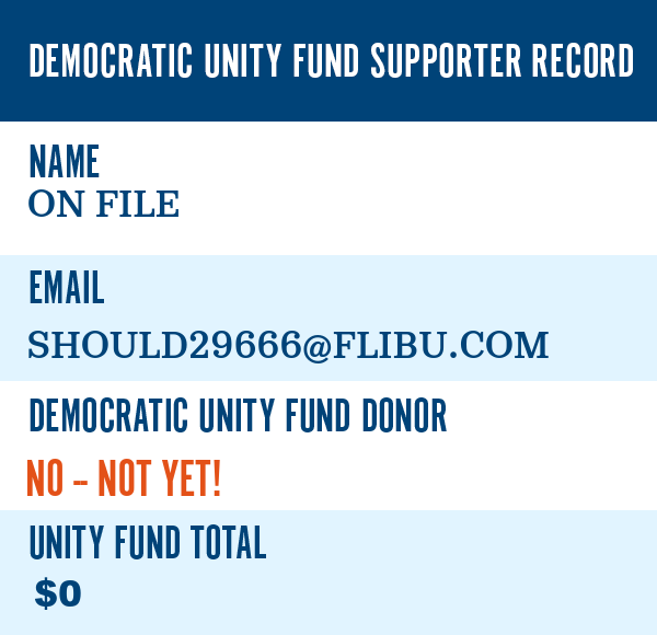 Here''s what the DNC has on file for you: