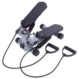 S025 Aerobic Fitness Step Air Stair Climber Stepper Silver