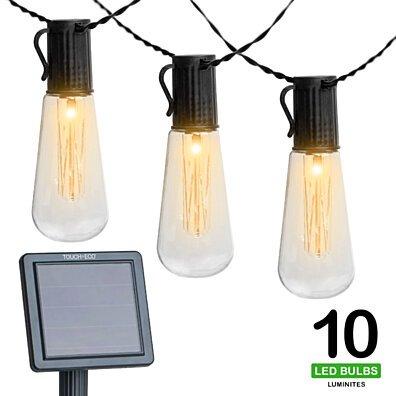 LUMINITES | Solar Powered LED String Light Bulbs