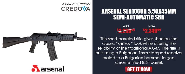SLR-106UR Pistol SBR, 5.56x45 caliber, Bulgarian receiver, with side rail,