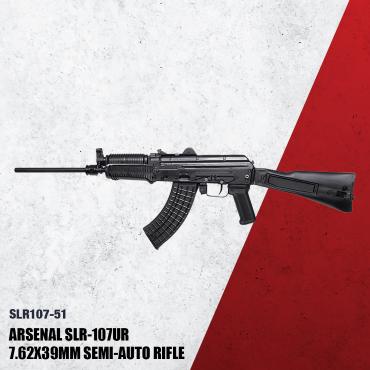 SLR-107UR - Stamped receiver,chrome lined hammer forged barrel 7.62x39 caliber, front sight block /