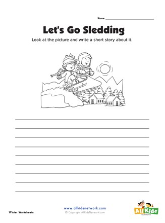 Winter Picture Prompt Writing Worksheet