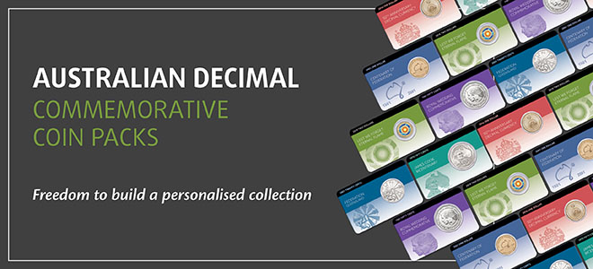Australian Decimal Commemorative Coin packs