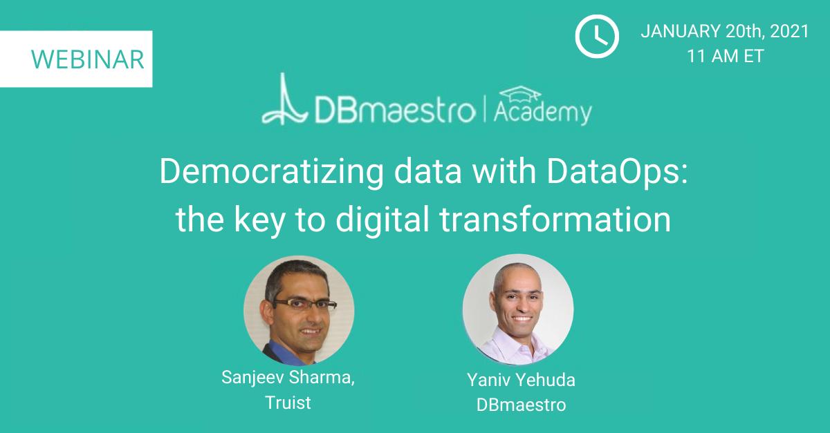 Webinar: democratizing data with DataOps