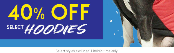 40% Off Select Hoodies