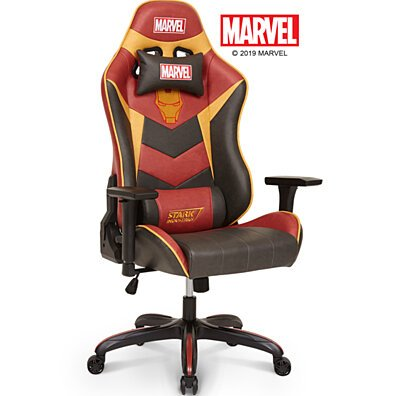 Marvel Avengers Iron Man Big & Wide Heavy Duty 400 lbs Computer Gaming Racing Desk Chair Red Gold - Endgame & Infinity War Legends Series