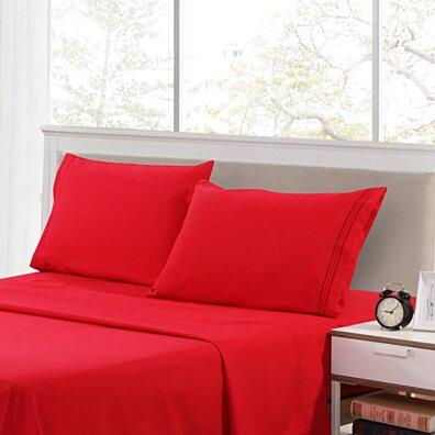 PREMIUM HIGHEST QUALITY Brushed Microfiber - 4 Piece 1800 Series Deep Pocket Bed Sheet Set