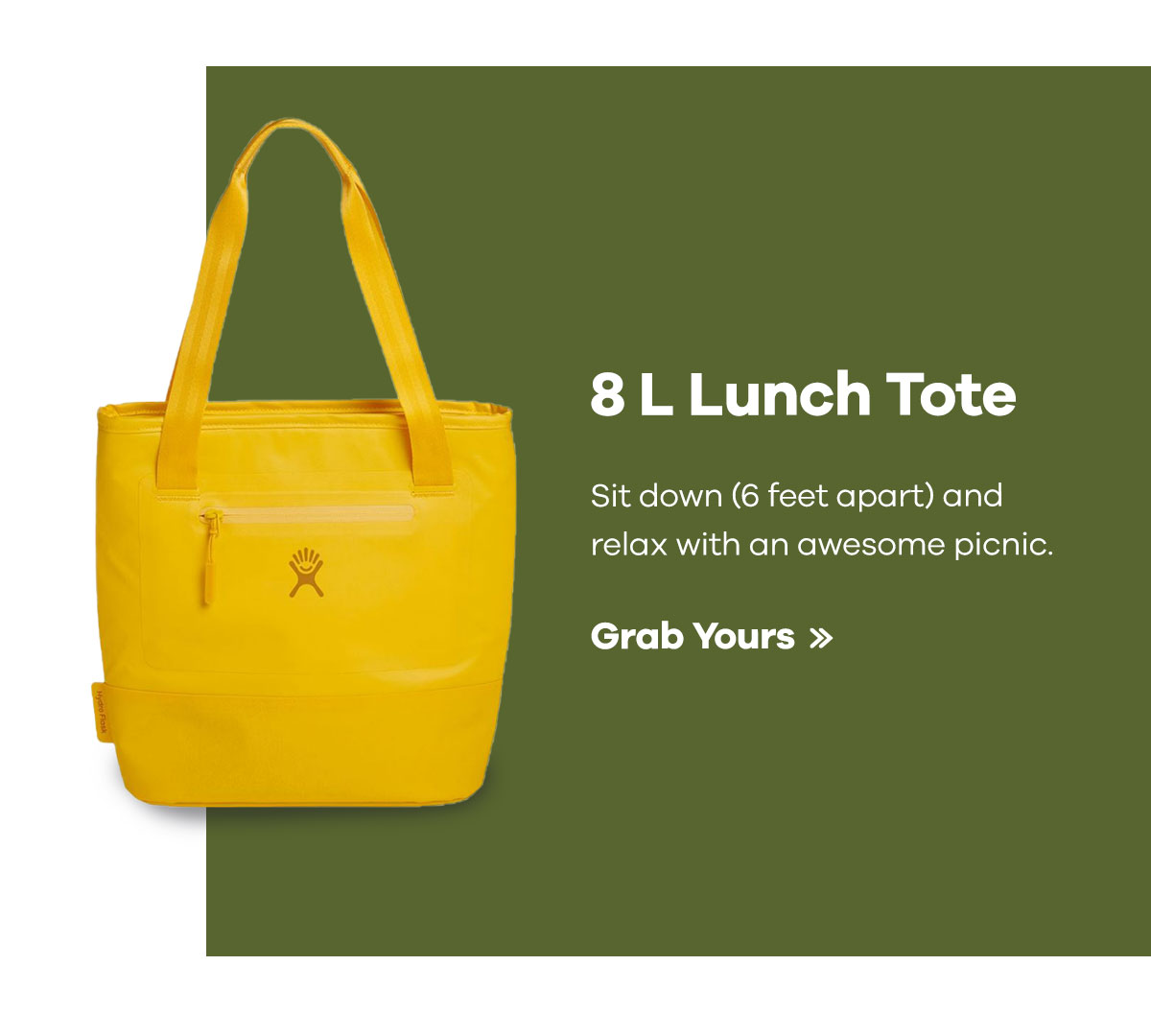 8 L Lunch Tote - Sit down (6 feet apart) and relax with an awesome picnic. | Grab Yours >>