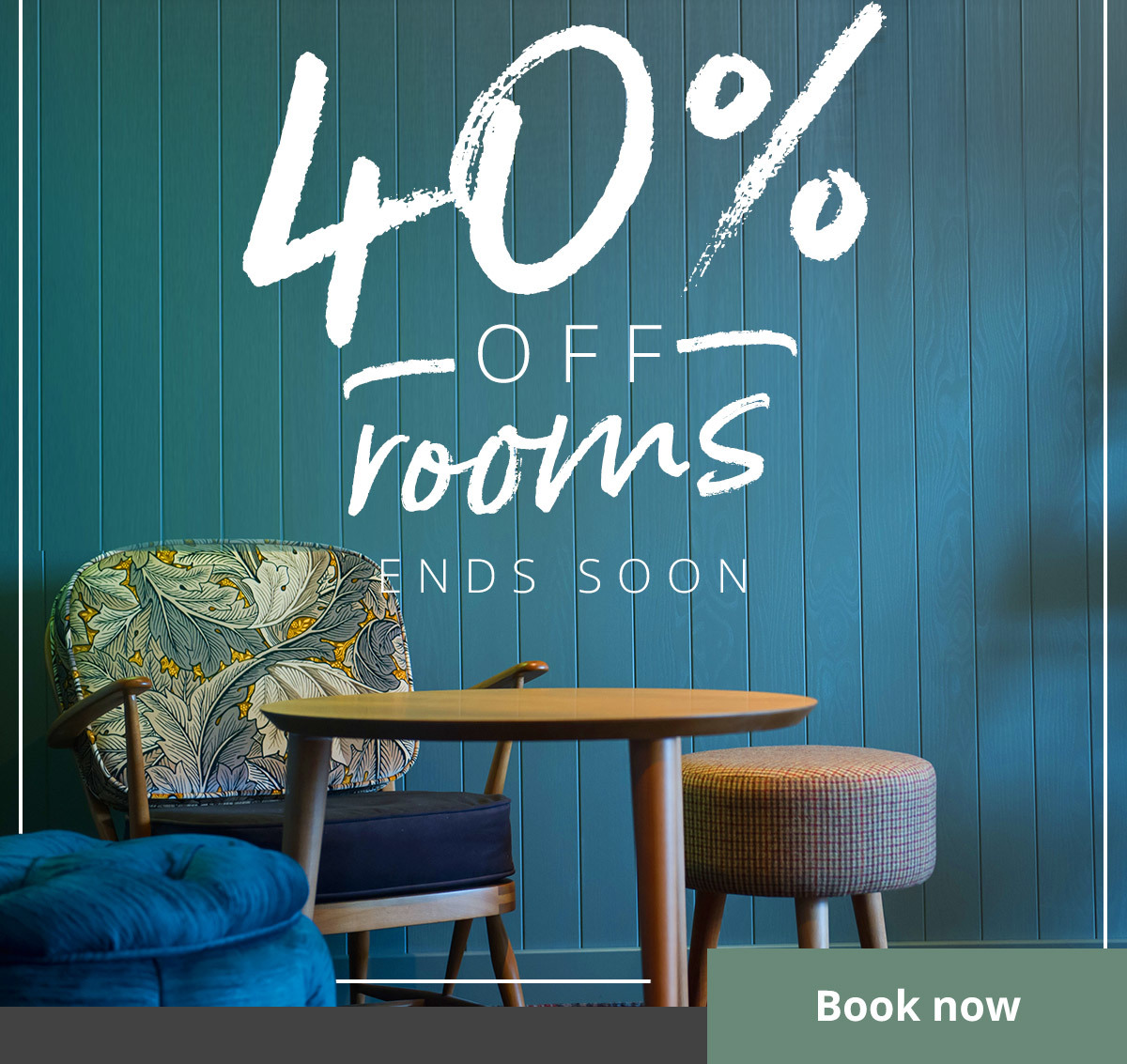 With 40% off our rooms until 31st January, there are so many reasons to book for 2020.
