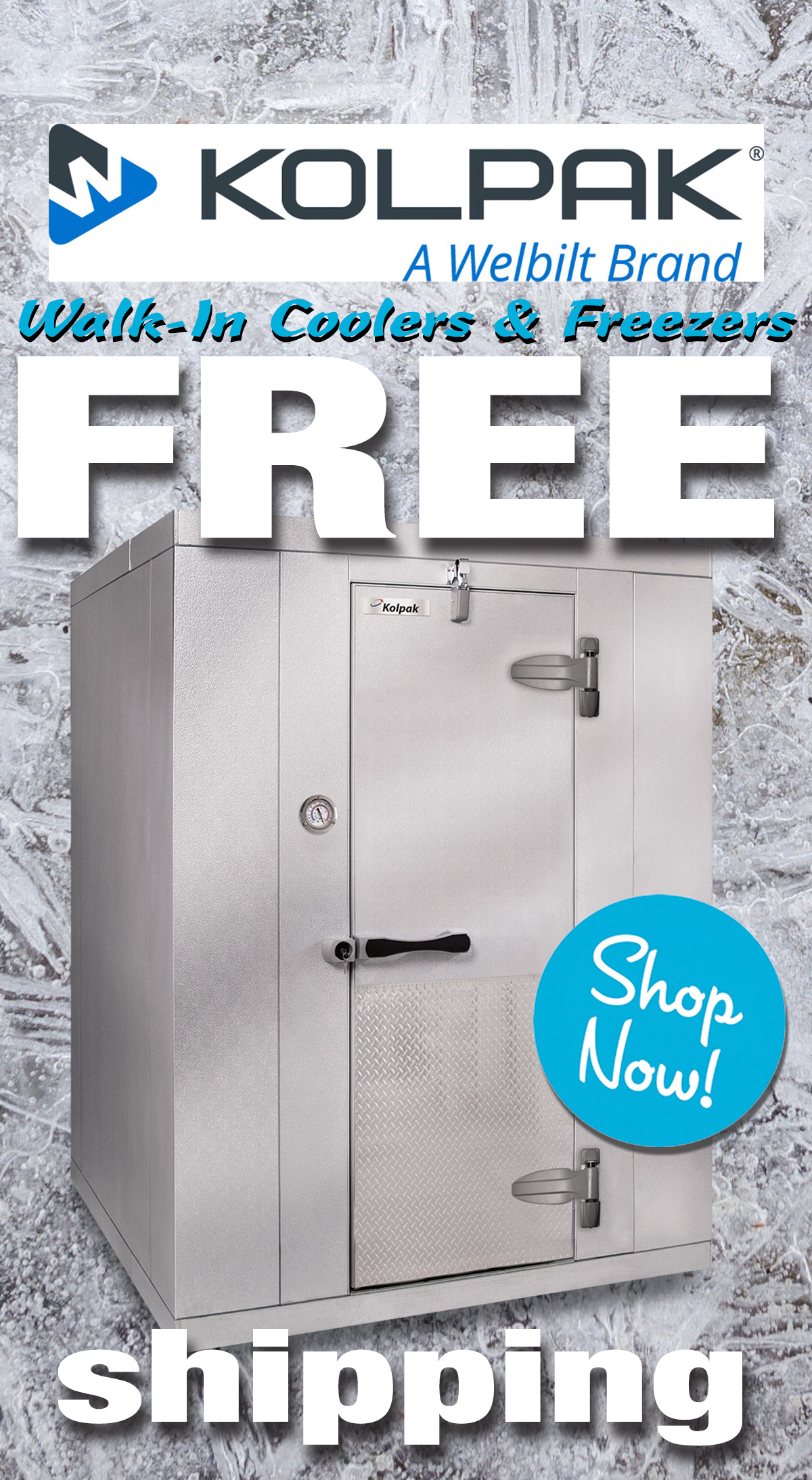 Kolpak Walk-In Coolers and Freezers ship free to you today!