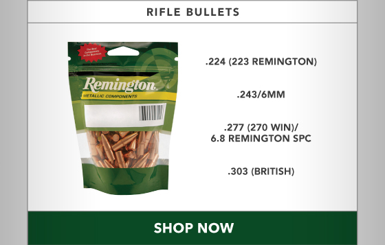 15% OFF All Rifle Bullets