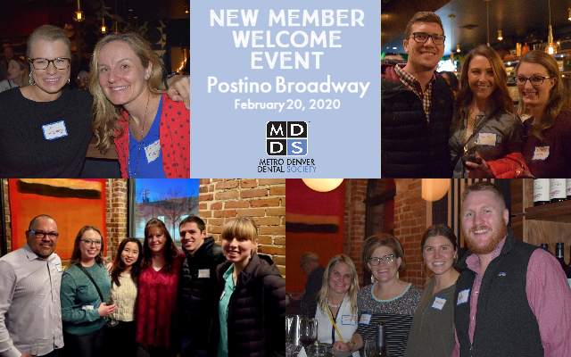 new member welcome event collage