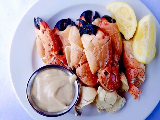 Lobster Bar Sea Grille Miami Beach has amazing Key West Stone Crab Claws!