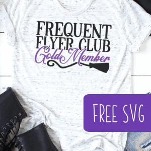 Free Halloween Frequent Flyer Club SVG for Silhouette or Cricut (Portrait, Cameo, Curio, Mint, Explore, Maker, Joy) - by cuttingforbusiness.com.