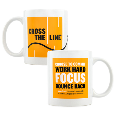 Cross The Line Mug