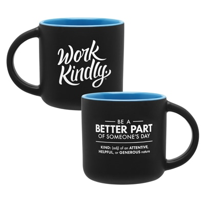 Work Kindly Mug Blue