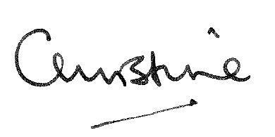 Christine''s signature