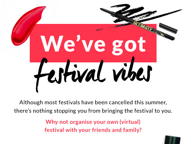 We've got festival vibes. Although most festivals have been cancelled this summer, there's nothing stopping you from bringing the festival to you.  Why not organise your own (virtual) festival with your friends and family?