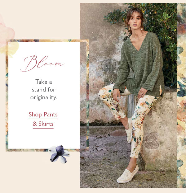 Take a stand for originality. Shop Pants & Skirts.