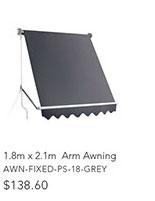 1.8m x 2.1m  Arm Awning