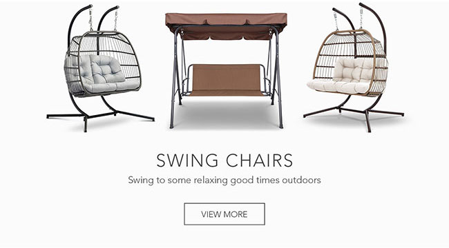 Swing to some relaxing good times outdoors