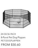 8-Panel Pet Dog Playpen