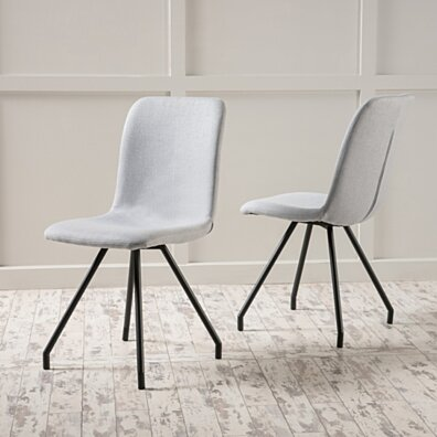 Bethany Light Grey Fabric Dining Chair (Set of 2)