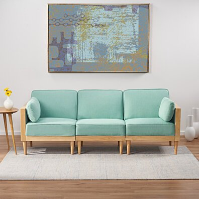 Tegan 3 Piece Sectional Sofa Set with Piped Cushions