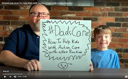 aaron sheldon and his son star in a Dove Men+Care video