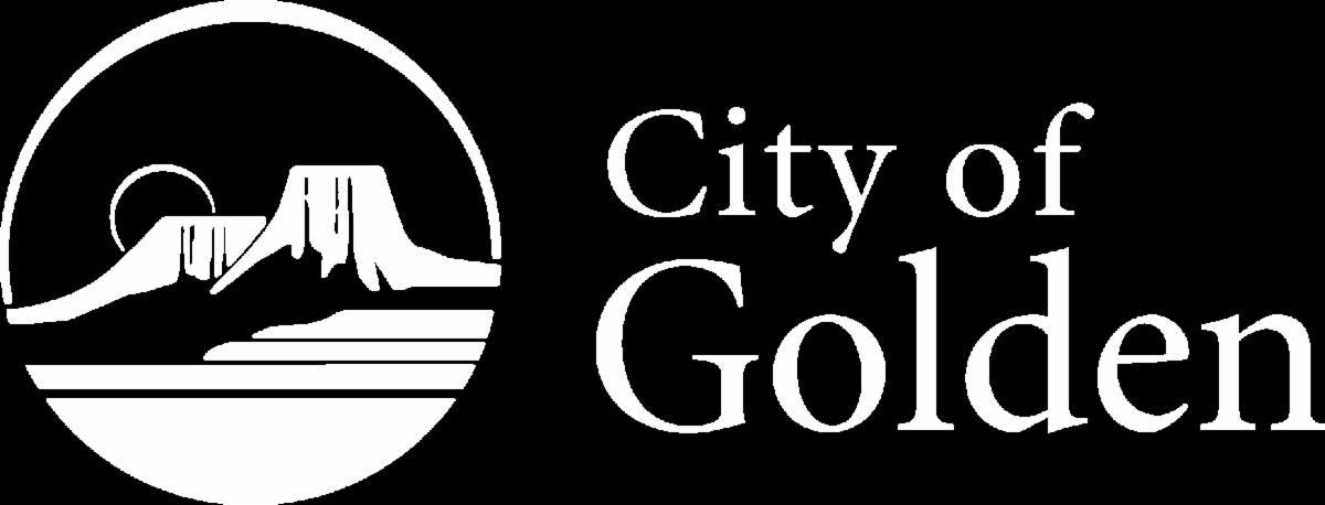 Golden Logo white