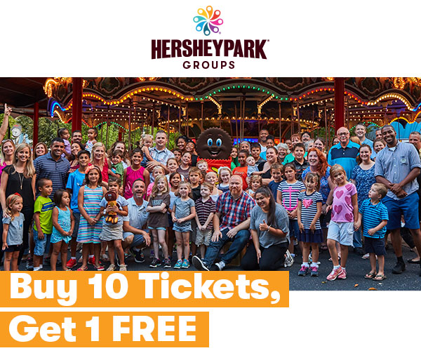 Hersheypark Groups - Buy 10 Tickets, Get 1 FREE