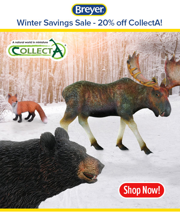 CollectA Bear, Moose and Fox in a winter setting