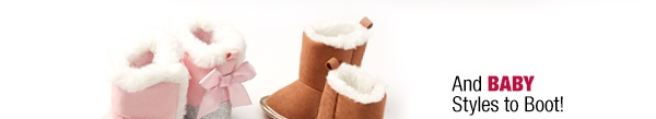 And baby styles to boot starting at $6.99