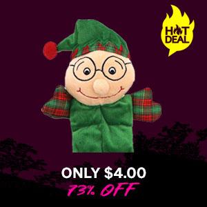 Grriggles Holiday Squeaktacular Dog Toy - Elf