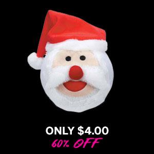 Grriggles Snowball Gang Dog Toy - Santa