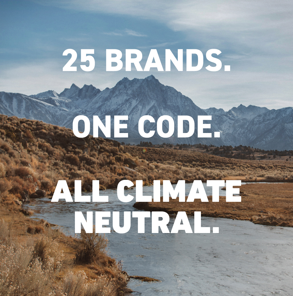 25 Brands. One Code. All Climate Neutral.