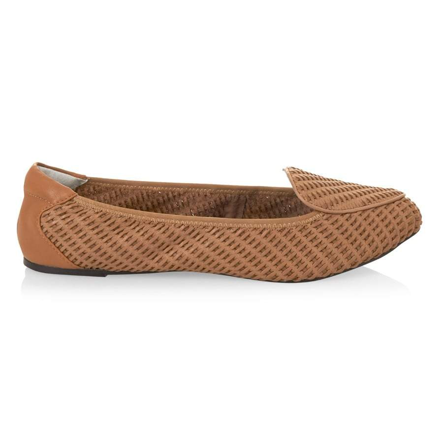 Clapham - Tan Woven Leather Loafers