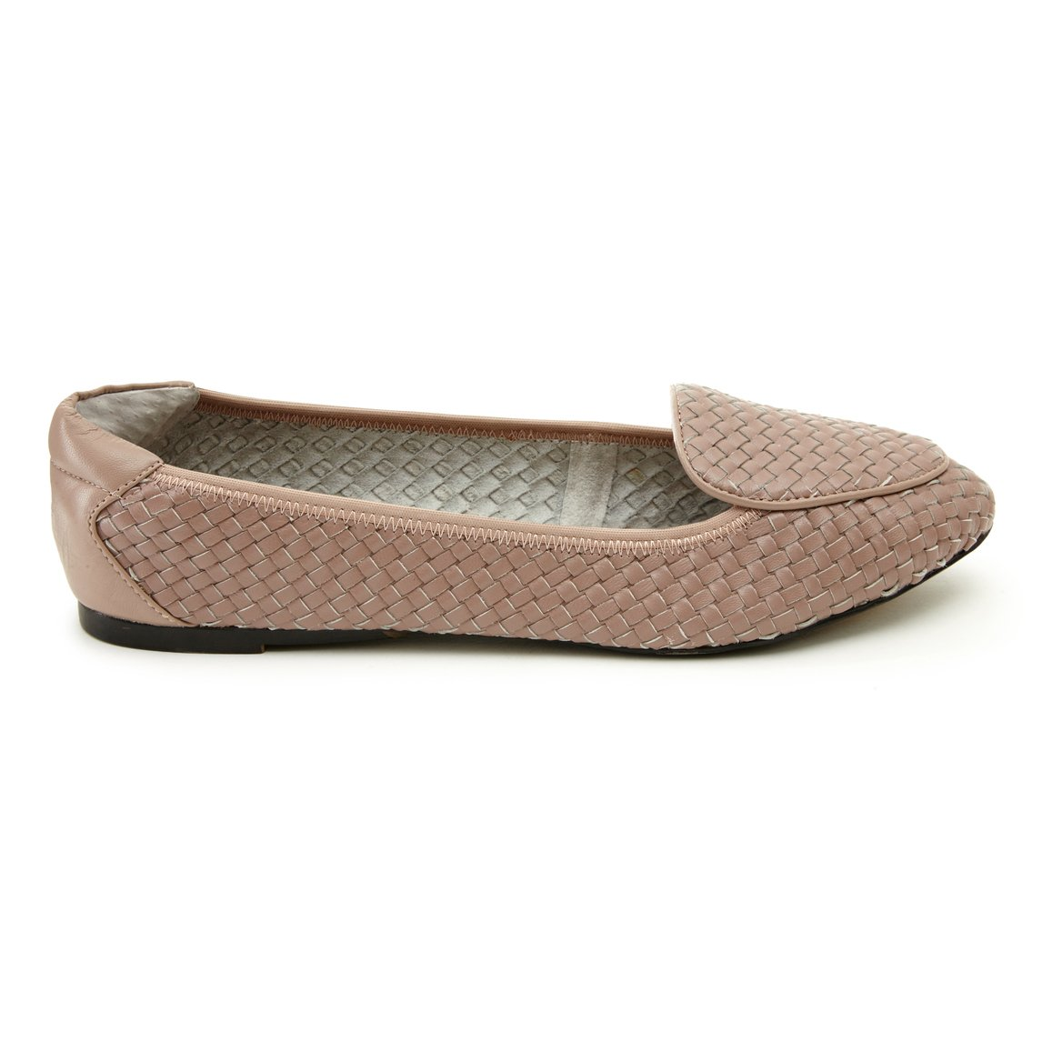 Clapham - Dusky Pink Woven Leather Loafers