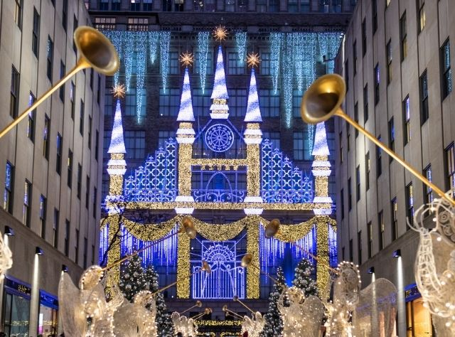 Saks Fifth Avenue during the holidays