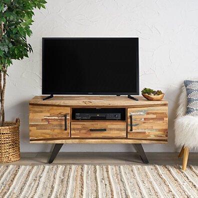 Iris Handcrafted Boho Reclaimed Wood TV Stand