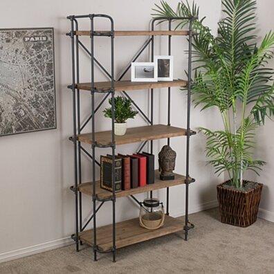 Mercia Industrial 5 Shelf Firwood Bookcase