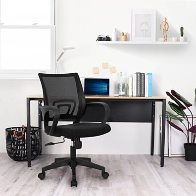 Office Chair Computer Desk Chair Gaming - Ergonomic Mid Back Cushion Lumbar Support with Wheels Comfortable Mesh Racing Seat - NEO-M18