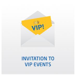 Invitation to VIP events