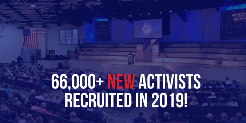 66,000 NEW ACTIVISTS RECRUITED